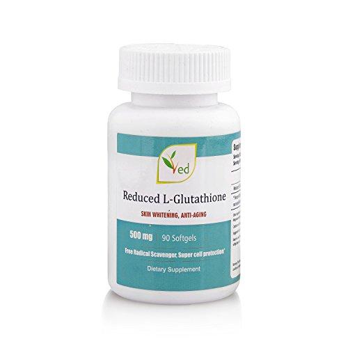 Reduced L-Glutathione - 500m gx 90 Softgel Capsules, SKIN WHITENING, ANTI-AGING