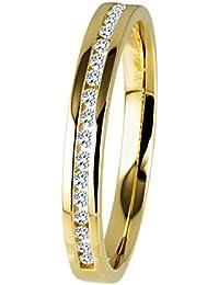Diamond Line Diamant-Ring Damen 585 Gold mit 19 Brillianten 0.15 ct. Lupenrein