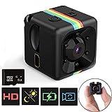 Mini Telecamera Spia Nascosta con Micro sd 8GB, FLYLINKTECH Full HD 1080P Microcamera Spia con Rilevamento di Movimento Portatile Videocamera di Sorveglianza Video per Esterno/Interno