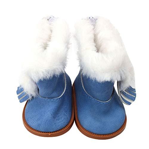Zolimx Winter Glitter Doll Schuhe für 18 Zoll American Doll Zubehör Mädchen Spielzeug -