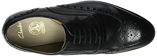 Clarks Twinley Limit, Scarpe Stringate Basse Brogue Uomo Nero (Black Leather)