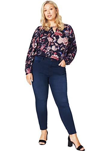 Zizzi Amy Damen Jeans Super Slim Jeanshose Stretch Hose ,Blau (Blue 1055),48 (Herstellergröße: 48/ 78 cm)