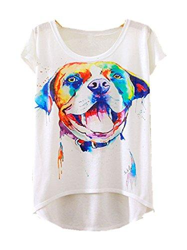 YICHUN Damen T-Shirt Mehrfarbig mehrfarbig One size Chien 9#