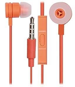 Jkobi 3.5mm In Ear Bud Handsfree Headset Earphones With MIC For MicromaxCanvas Fantabulet -ORANGE