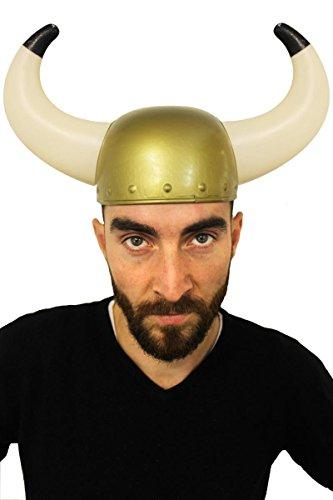 ILOVEFANCYDRESS Wikinger Helm KOSTÜM VERKLEIDUNG-AUCH MIT Schwert ODER Thor Hammer= KOSTÜM ZUBEHÖR Ragnar=ZUBEHÖR NORDMANN VERKLEIDUNG Fasching Karneval Party-1 VIKINGER Helm