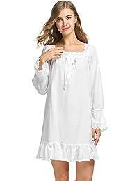 Avidlove Damen Kleid Nachthemd Schlafanzüge Nachtwäsche Negligees Langarm/Kurzarm Kurz Absatz/Lang Absatz Dessous Baumwolle Reine