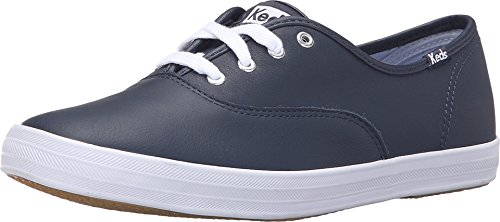 Keds WH55588 Women's Champion Originals Leather Sneaker, Navy, 6 B(M) US -