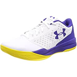 Under Armour UA Jet Low, Zapatos de Baloncesto para Hombre, Blanco (White), 42.5 EU