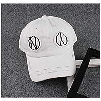 FOUGNOGKISSS Parche Gorra de béisbol para niños Sombrero de Cinta con protección Solar para niños, Visera para 3-7 años (Negro) (Color : Black, tamaño : 48-52cm)