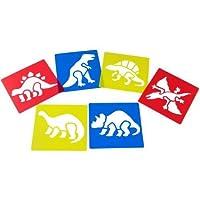 Anthony Peters Washable Plastic Dinosaur Stencils (Set of 6)