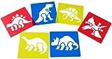 Washable Plastic Dinosaur Stencils (Set of 6)