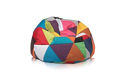 Pufmania Sitzsack Beanbag Grapefruit Polyester Wasserdicht Bunt für Außen XL 95x 65cm