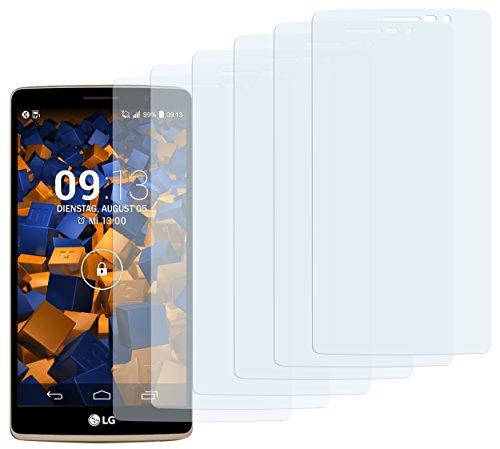 mumbi Schutzfolie kompatibel mit LG G4 Stylus Folie klar, Bildschirmschutzfolie (6x)