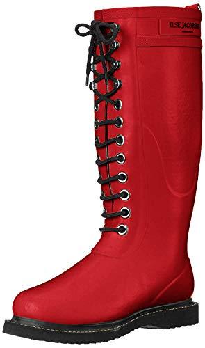 Ilse Jacobsen Damen Gummistiefel hoch, RUB1 - Botas altas de agua para mujer, color rojo, talla 37