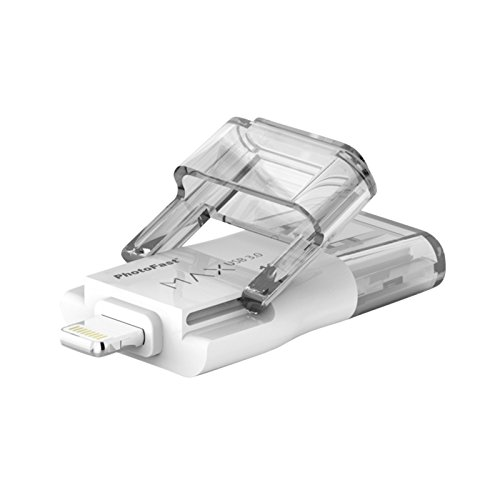 PhotoFast I-FlashDrive Max Gen2 Memoria Flash per Trasferimento Dati per Smartphone e Telefoni Apple iPhone iOS, Mac, PC, USB 3.0/Lighting, 32 GB