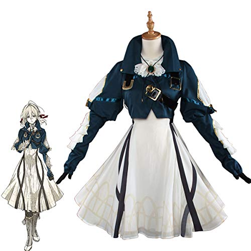 Cosplay Kostüm Anime Japanische - DuHLi Violett evergarden Cosplay Anime violett evergarden kostüm Frauen japanischen Anime kostüm Dress,L