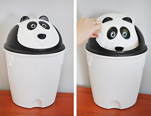 Kinder Abfalleimer Mülleimer Papierkorb 8l Tier mülleimer #2644, Muster:Panda