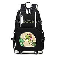Cosstars Tabikaeru Journey Frog Game Backpack Student Schoolbag Laptop Book Bag Casual Dayback