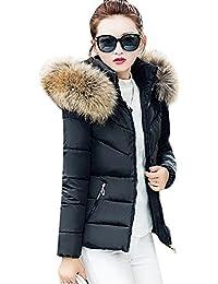Femme Section courte Slim à capuche épais Grande taille Manteau en coton Veste matelassée