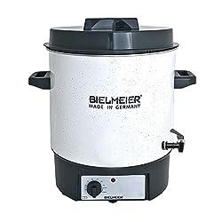 Bielmeier 480122 Einkoch Halbautomat, Emaille, 27 L, 3/8 Zoll Kunststoff-Auslaufhahn, 1800 W, BHG 480.1