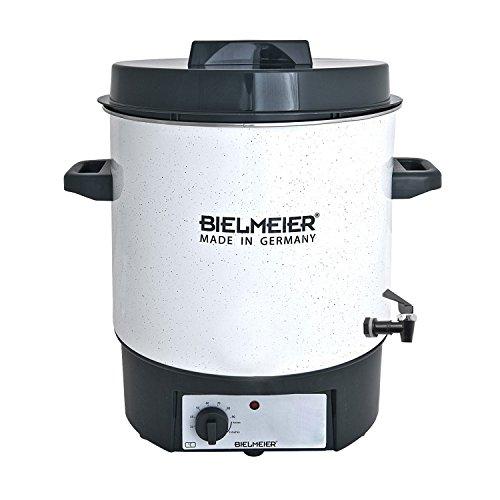 Bielmeier 480122 Einkoch Halbautomat, Emaille, 27 L, 38 Zoll Kunststoff-Auslaufhahn, 1800 W, BHG 480.1