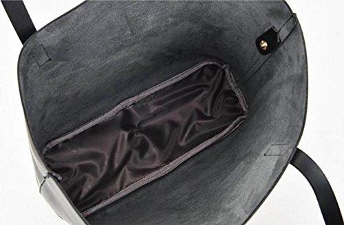 Borse Da Donna T-shirt Da Donna Grande Capacità Borse Per Acquisti Pelle In PU Borse A Tracolla Con Un Pacchetto Piccolo LightGray