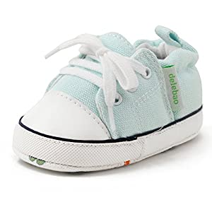 Delebao Baby Shoes Soft Sole Prewalker Anti-Slip Sneakers First Steps Shoes 0-24 Months