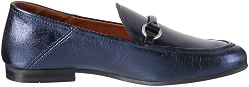 Hudson London Damen Arianna Slipper Blau (Blue Metallic)