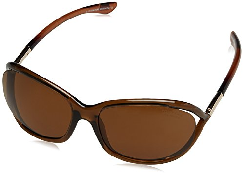 Tom Ford Damen FT0008 48H 61 Sonnenbrille, Braun Scuro Luc/Marrone Polar