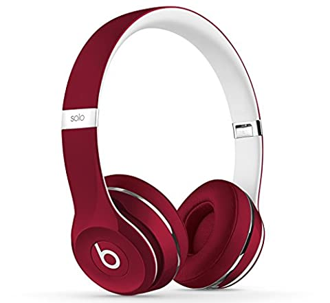 Beats by Dr. Dre ML9G2ZM/A Solo2 Kopfhörer (Luxe Edition) rot