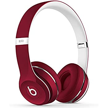 Beats Solo2 On-Ear Headphones Luxe Edition - Red (Wired)