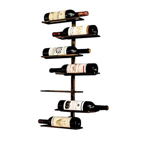 HUANGDA 15% Wall Mounted Metal Whiskey Wine Display Rack Floating