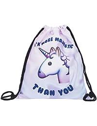 Emojis Unicorn Drawstring Backpack Rucksack Shoulder Bags Gym Bag By Emojis Collection