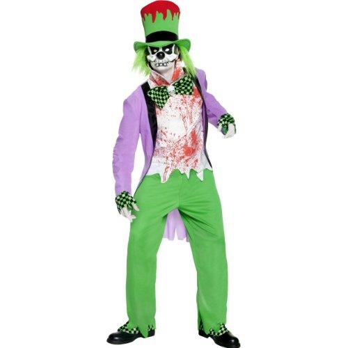 Hutmacher Kostüm Böser - Halloween Herren Kostüm böser Hutmacher aus Märchen gruselig Größe M