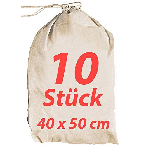 Bolsa de tela vestido ersacke Ropa Sucia zuzieh Bolsa con cordón Natural 40X 50Cm, 10unidades)