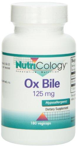 Nutricology, Ox Bile (Ochsengalle), 125mg, 180 Vegan Kapseln