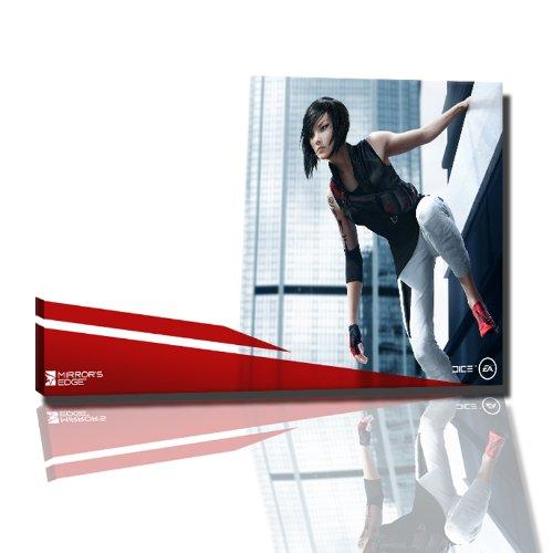 mirrors edge 2 Bild auf Leinwand -- 100x70 cm fertig gerahmte Kunstdruckbilder als Wandbild - Billiger als Ölbild oder Gemälde - KEIN Poster oder Plakat