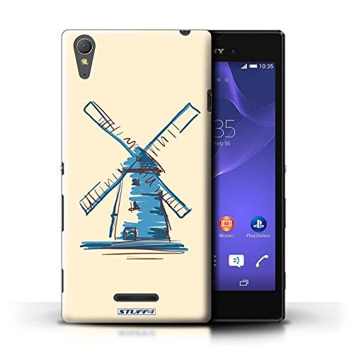Kobalt® Imprimé Etui / Coque pour Sony Xperia T3 / Moulin/Hollande conception / Série Monuments Moulin/Hollande
