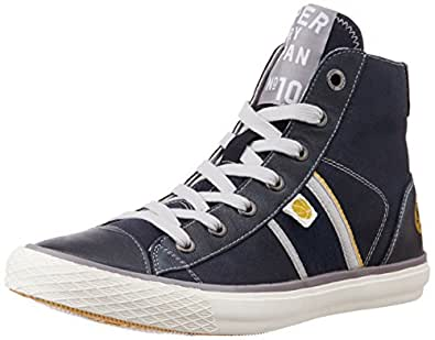 Superdry Men's Bolt Sneaker Eclipse Navy and Nassa Grey Sneakers - 6 UK
