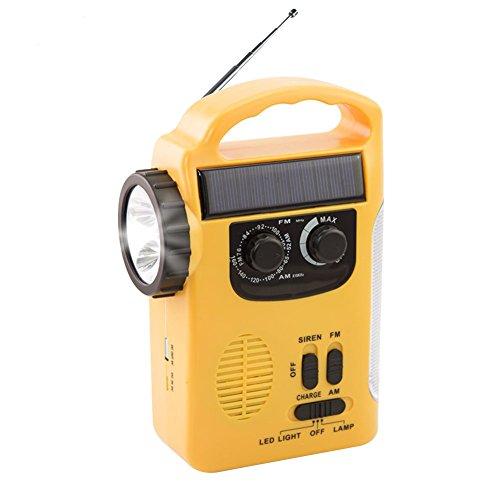Chengstore Solaire météo radio, d'urgence à manivelle auto-alimenté AM/FM Radio LED Lanterne avec lampe de poche d'alimentation portable chargeur pour les smartphones Rd339