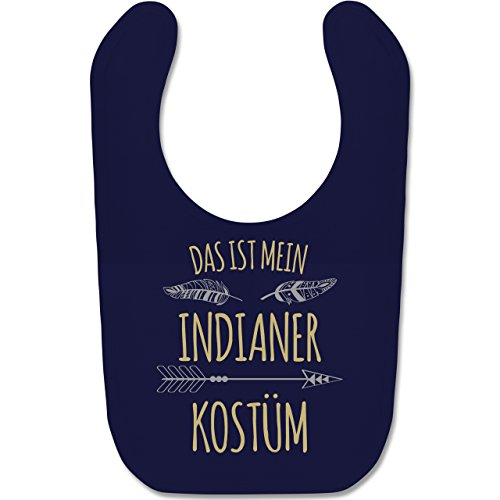 Anlässe Baby - Das ist mein Indianer Kostüm - Unisize - Navy Blau - BZ12 - Süßes Baby Lätzchen als Accessoire für Jungs und Mädchen (Baby Indianer Kostüm)