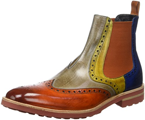 Melvin & Hamilton Eddy 13, Bottes Chelsea Homme Multicolore (Crust Electric Orange Smog Electric Yellow Electric Blue Orange Crip Red)