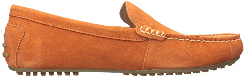 Polo Ralph Lauren Woodley Suede Slip-on Mocassins Bright Signal Orange