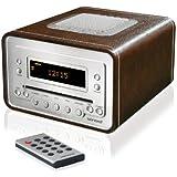 Sonoro AU 1310BL-radio Lecteur CD et en forme de Seau Taupe Extérieur en cuir synthétique