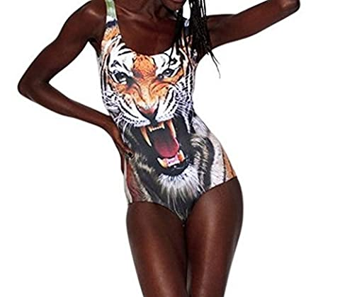 JTC Lady Girls Summer Beach One-Pieces Swimwear Swimsuit Tigger Head