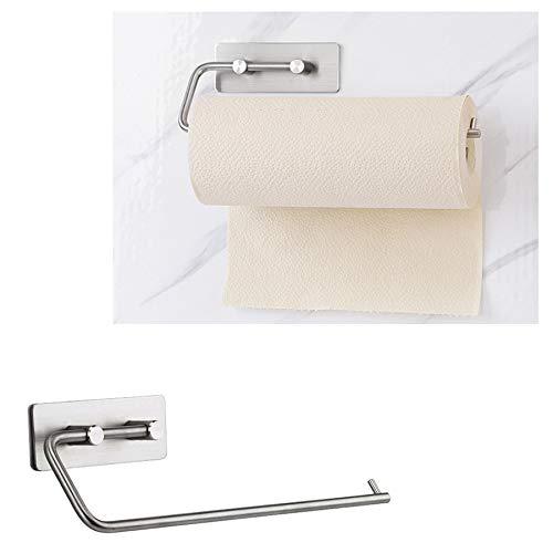 1 Stück Papier Handtuch Stick Auf Klebrigen Tissue Rolle Aufhänger Bad Küche Toilette Hotel Rack Handtuchhalter Wandhalterung Edelstahl - Rack Gefrierschrank Für Metall