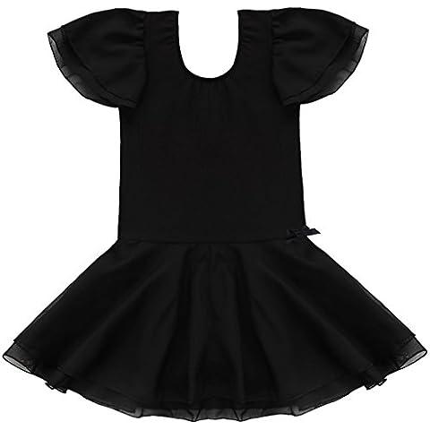 YIZYIF XS-XXXL Tutu Vestido De Ballet Bailarina Leotardo Malla Traje De Danza Para Las Niñas 2-14