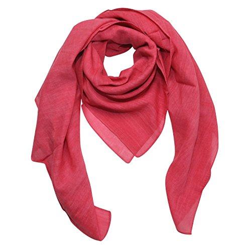 Superfreak® Baumwolltuch - Tuch - Schal - 100x100 cm - 100% Baumwolle Farbe rosa - rosé Melange-Look