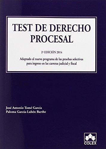 TEST DE DERECHO PROCESAL