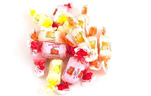 Fruchtsaft Toffees ohne Zucker - in einer praktischen AromaFrischeNaschbox 500g - Deine Naschbox. (Bonbons Zuckerfrei)